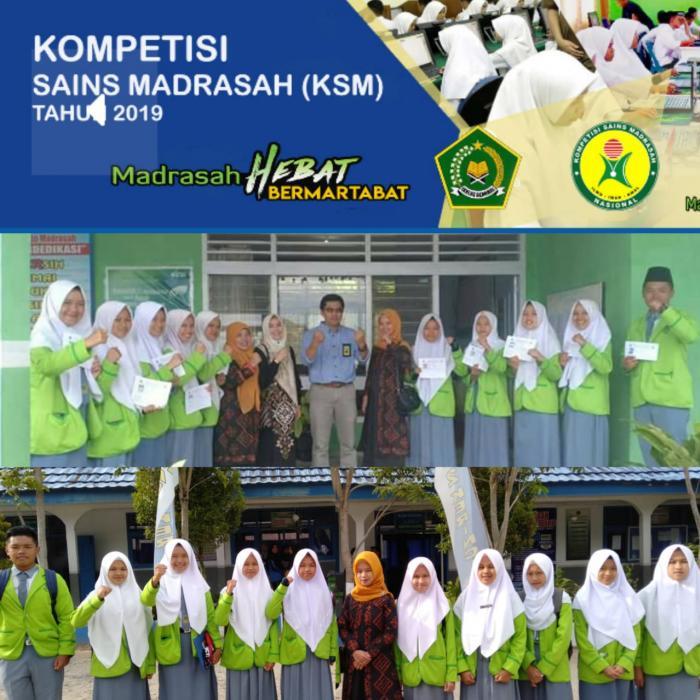 MAN 2 Kerinci Raih Prestasi Dalam Ajang  Kompetisi Sains Madrasah (KSM) 2019