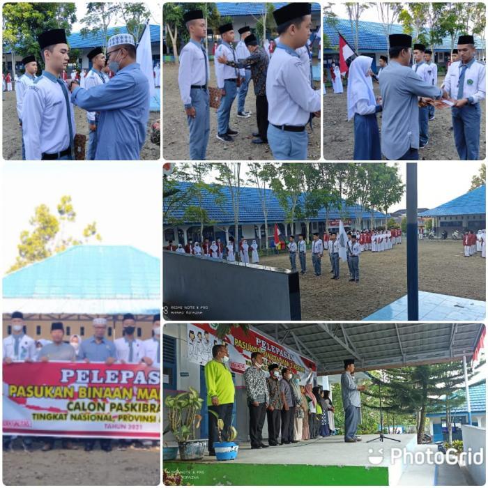 Pelepasan Pasukan Binaan Siswa MAN 2 Kerinci Calon Paskibraka Tingkat Nasional, Provinsi dan Kabupaten.